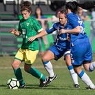 Action from the clash between City, green, and Gillingham. Picture: JULIAN HART/KENT PRO IMAGES