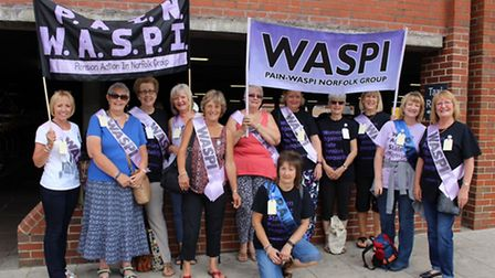 The PAIN WASPI ladies are holding a march at Chapelfield Gardens