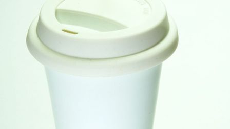 This reusable ceramic coffee cup looks so much like the real thing you might throw it away by mistak