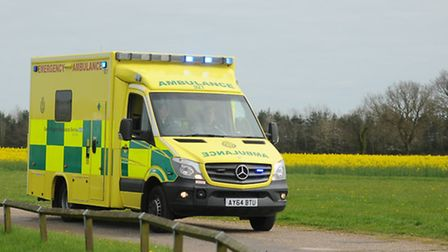 The pensioner waited over an hour for the ambulance before family members were forced to rush him to