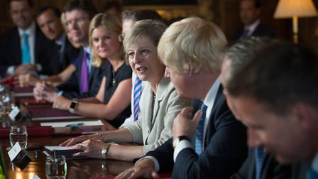 Theresa May holds a cabinet meeting at the Prime Minister's country retreat Chequers in Buckinghamsh