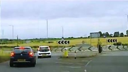 This is the A14 approach at Bar Hill.
