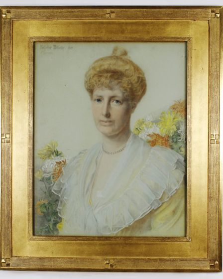 A portrait of Katherine Witherby by Frederick Sandys, the important 19th century Norwich born Pre-Ra