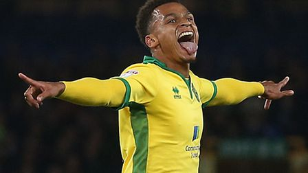 Josh Murphy of Norwich celebrates scoring his sides 2nd goal during the EFL Cup match at Goodison Pa