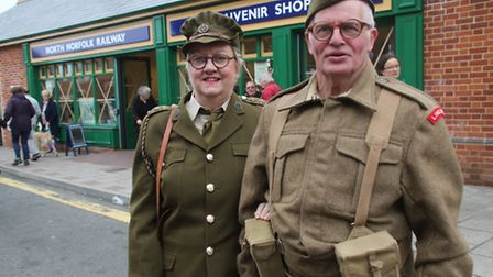 Sheringham Railway Station was the centre of the town's 1940s weekend on Saturday
