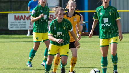 Action from Norwich City Ladies' 3-1 loss to Camrbidge. Picture: Sarah James