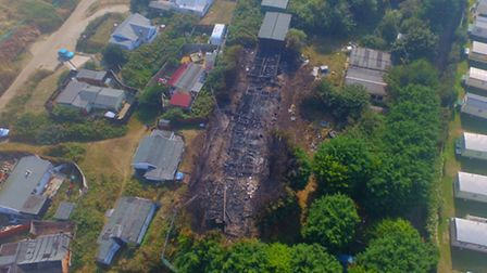 Those drone photos show the sheer scale of the fire yesterday. Picture: Simon Carter