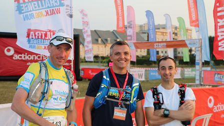Greshams teachers Ben Green, Chris Cox and David Saker have completed their first ultra marathon for