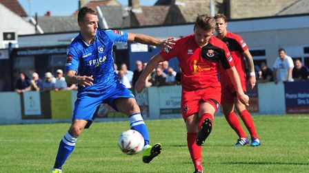 Lowestoft's Jake Reed was on target in the defeat at Staines.