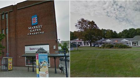 Market place in GY, UK and Yarmouth, Maine.