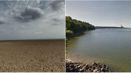 Coastline in GY, UK and Yarmouth, Maine.
