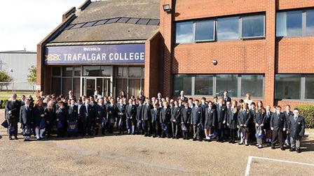 The opening day for Trafalgar College, the first new high school for 50 years in Great Yarmouth.Pupi
