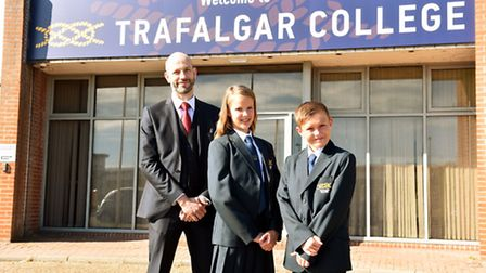 The opening day for Trafalgar College, the first new high school for 50 years in Great Yarmouth.Exec