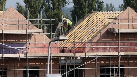 Construction work on new homes. Photo credit should read: Peter Byrne/PA Wire