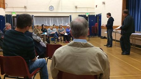 About 30 members of the public attended a meeting about possible plans for more than 250 new homes i