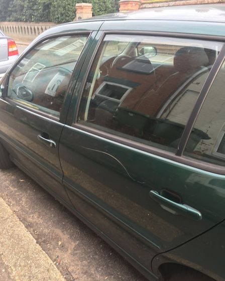 A car that was keyed on Duke Road in Gorleston. Submitted
