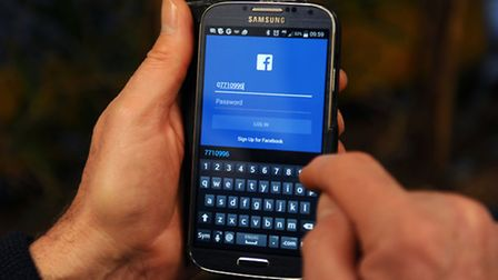 The Facebook App shown on a Samsung smartphone. Photo: Lauren Hurley/PA Wire