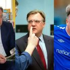 The many faces of Norwich City chairman Ed Balls.
