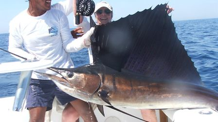A sailfish caught off the coast of Guatemala . Picture: SHIRLEY DETERDING