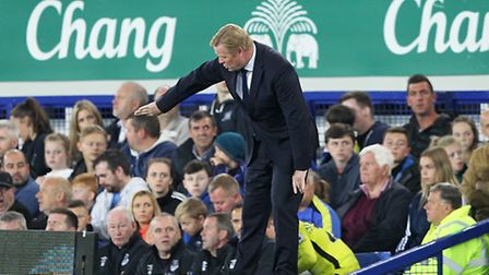 Everton manager Ronald Koeman suffered his first defeat of the season against Norwich City. lPicture