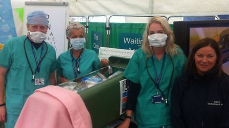 Members of North Norfolk District Council environmental services team promoting recycling. Picture: