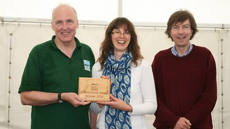North Norfolk District Council leader Tom FitzPatrick presenting the North Norfolk Environment Award