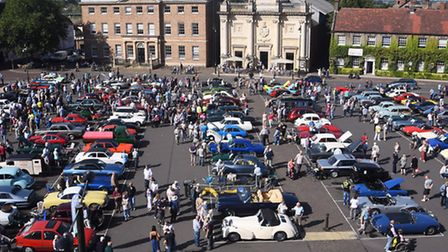King's Lynn's Classic Car Day on the Tuesday Market Place. Picture: Ian Burt