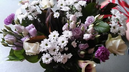 The flowers sent by HMRC to Jeannie Zelos. Picture: JEANNIE ZELOS