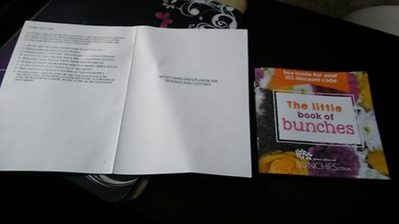 The note accompanying Jeannie Zelos's flowers. Picture: JEANNIE ZELOS
