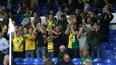 These diehard fans were in good spirits at Goodison and will be delighted that manager Alex Neil wil