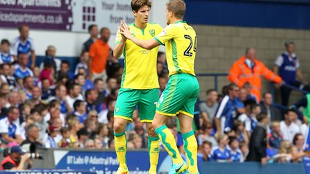 Ryan Bennett looks more accomplished alongside Timm Klose. Picture by Paul Chesterton/Focus Images L
