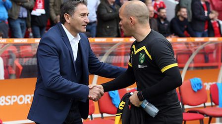 Nottingham Forest manager Philippe Montanier was unhappy at Norwich City's fightback. Picture by Pau