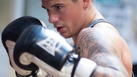 Nathan Dale training at the Kickstop Gym in Norwich. Photo: Jerry Daws/Stillfocused.co.uk.