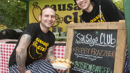 John Iverson and his wife Kelly have created a Pop Up hot dog business called the Sausage Club.