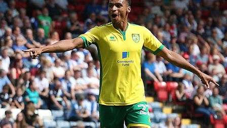Jacob Murphy savours his first senior Norwich City goal, during the 4-1 win at Blackburn. Picture by