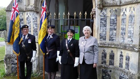 The Standard was carried for the final time by Wendy Hall, the Branch Standard Bearer, escorted by t