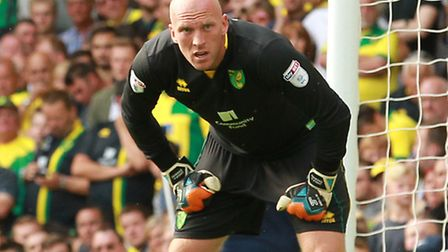 John Ruddy is fit to return in goal for Norwich City against Cardiff, if needed. Picture by Sean Dem