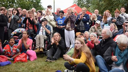 Supporters listen to Labour leader Jeremy Corbyn at the Burston Strike School Rally. Picture: DENISE