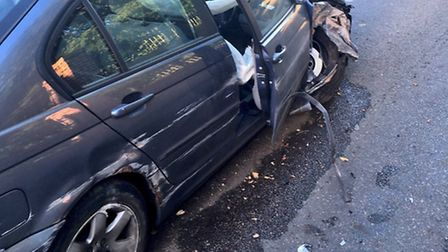 A man has been arrested on suspicion of drink driving after crashing his car into a wall in Blundest