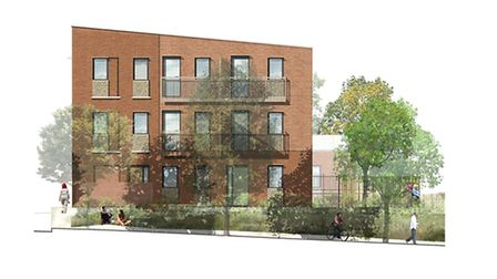 An artist's impression of what the finished homes in Hansard Close will look like. Pic: Norwich City