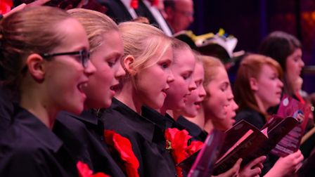 The 2015 EDP Festival of Carols at St Andrew's Hall, Norwich. The Broadland Youth Choir.PHOTO BY SIM