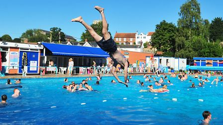 Beccles Lido is packed with people enjoying the hot summer weather.PHOTO: Nick Butcher