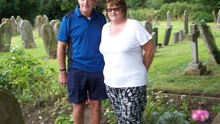 Maggy Roberts, whose relatives were at Dickleburgh orphanage, with her husband Alan. Picture: Rosema