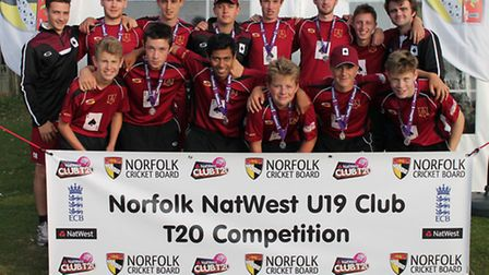 Runners-up Acle Aces at the Norfolk NatWest Under-19 T20 Finals Day. Picture: Kevin Denmark/Norfolk