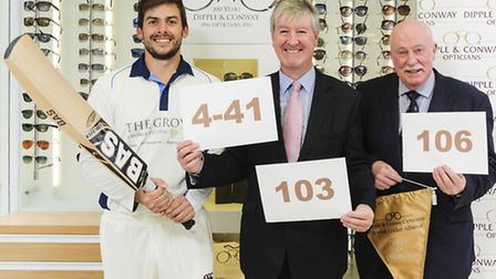 Cromer CC's Richard Charlwood, the Dipple & Conway Opticians Norfolk Alliance Player of the Month fo