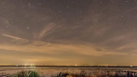 Starry night at Heacham by Ashley Taylor