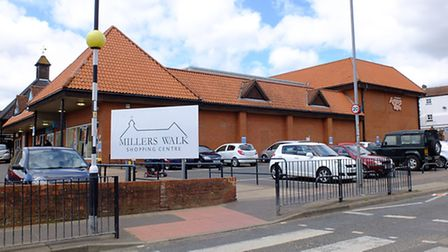 The site of the proposed extension to Millers Walk, in Fakenham. Picture: Chris Bishop
