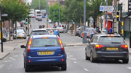 Traffic on Prince of Wales Road, NorwichPHOTO BY SIMON FINLAY
