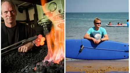 Best and worst jobs to have during a heatwave: Blacksmith Nigel Barnett from Fransham Forge and Ben