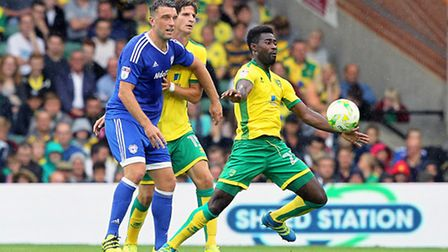 Alex Tettey is set to miss the Championship game against Burton Albion as he recovers from a hip inj